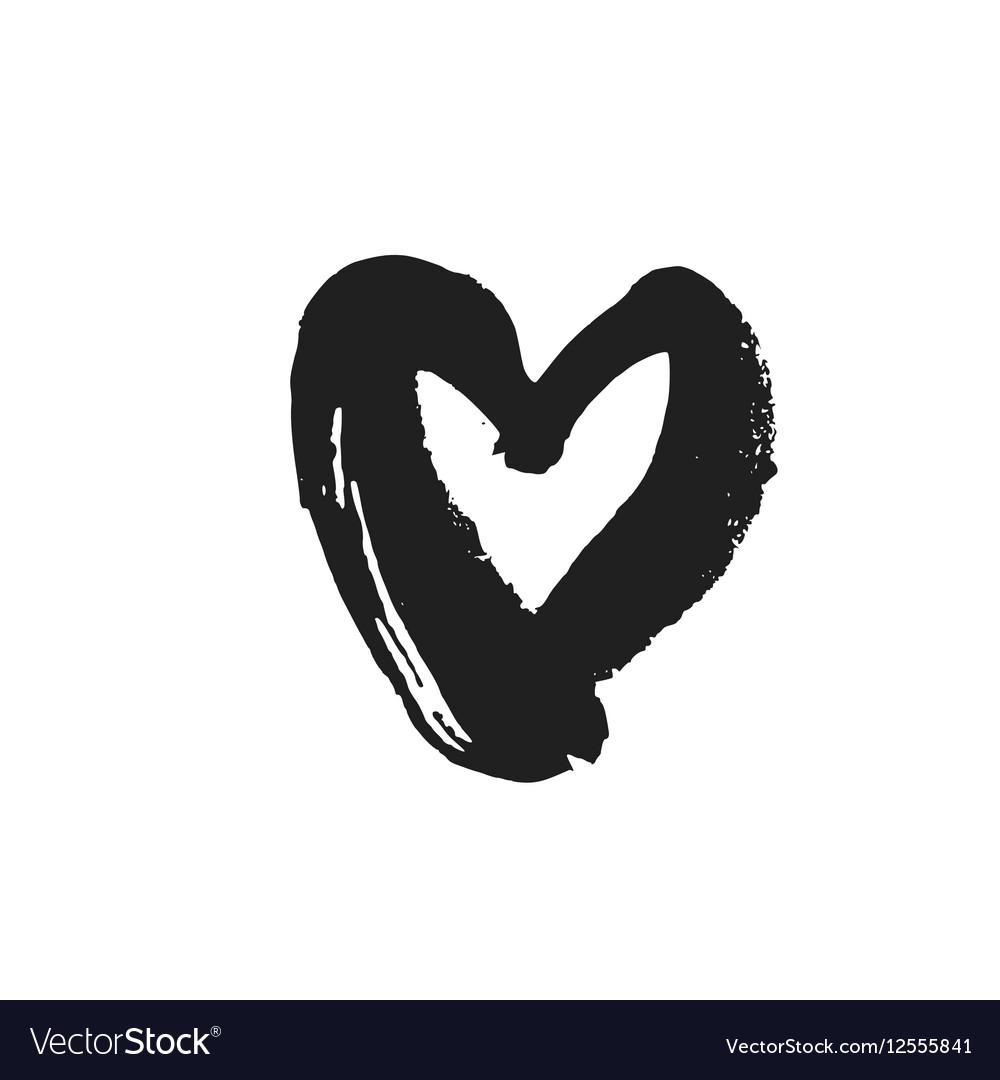 Black Heart Symbol Royalty Free Vector Image Vectorstock