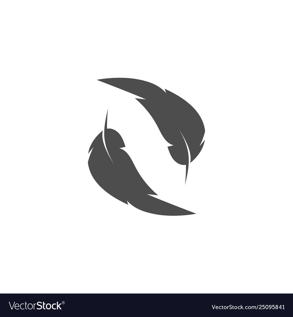 Feather graphic design template isolated