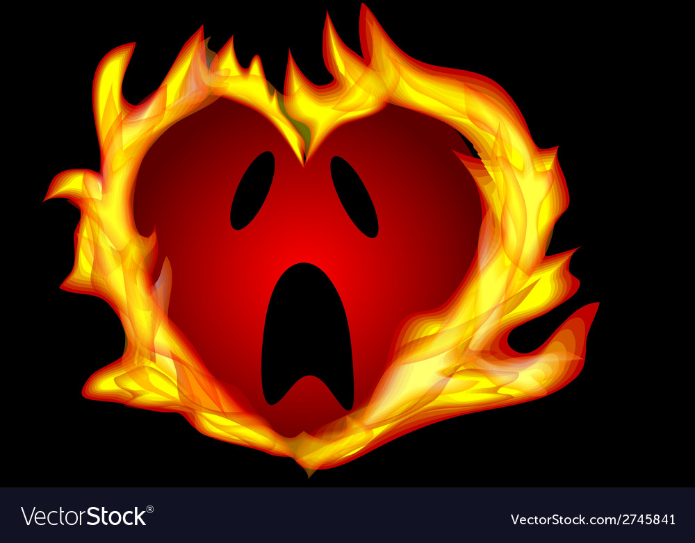 Heart burning vector image