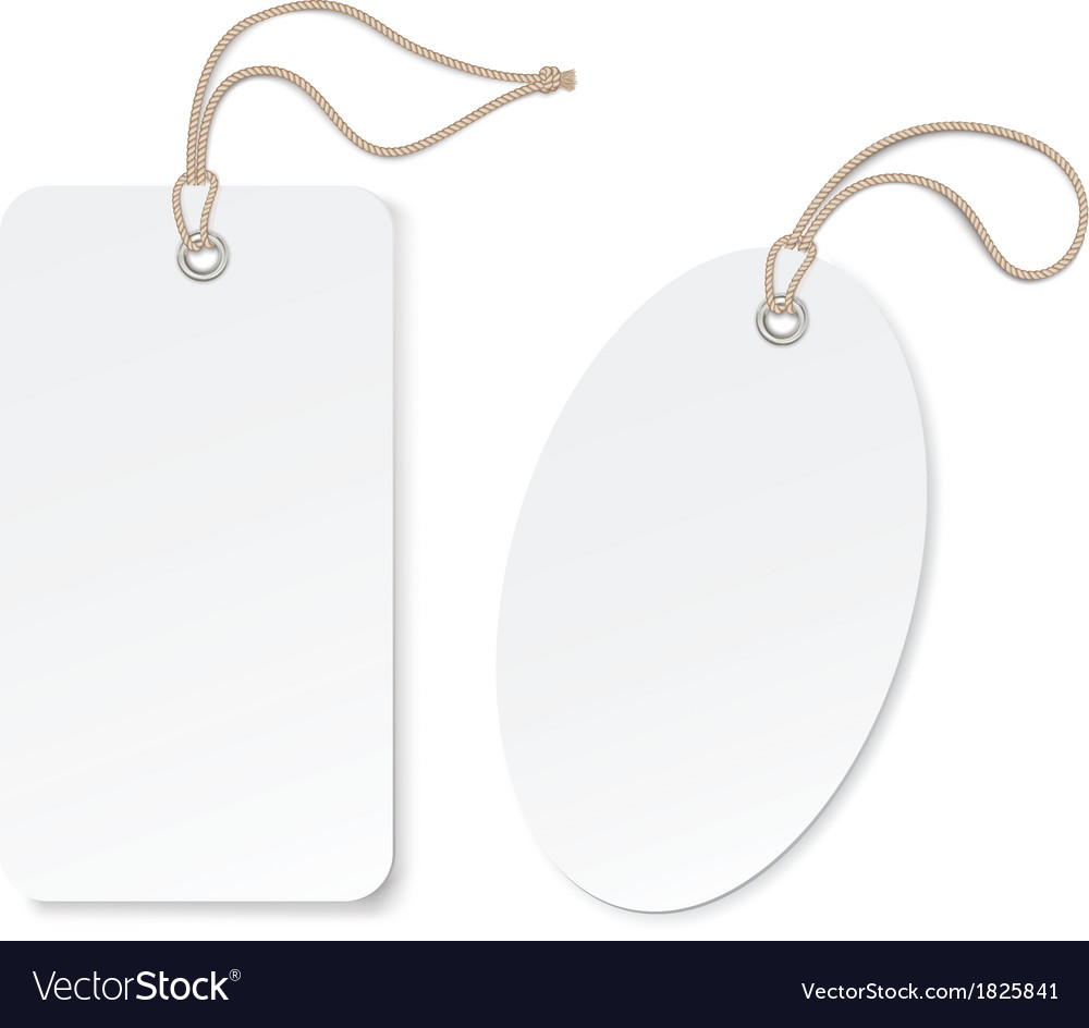 Label tag isolated on white background vector image