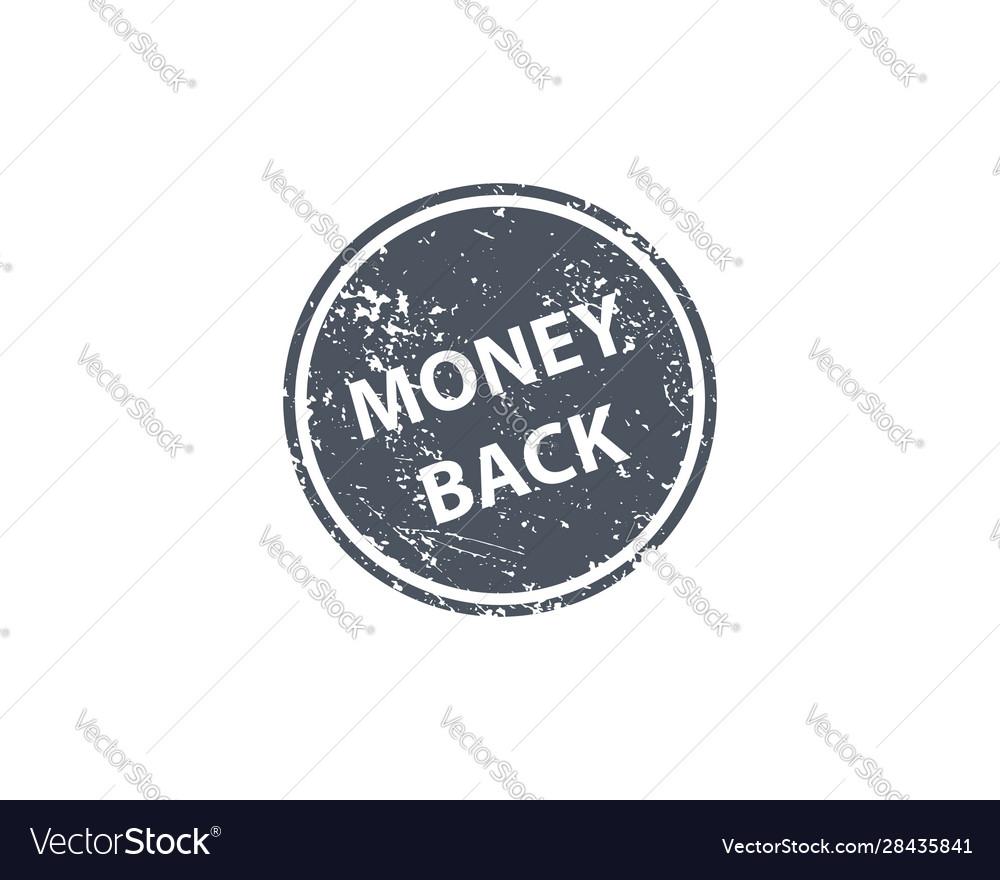 Money back stamp texture rubber cliche imprint