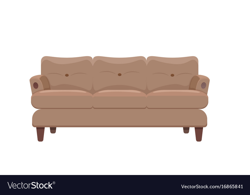 Sofa and couches colorful cartoon