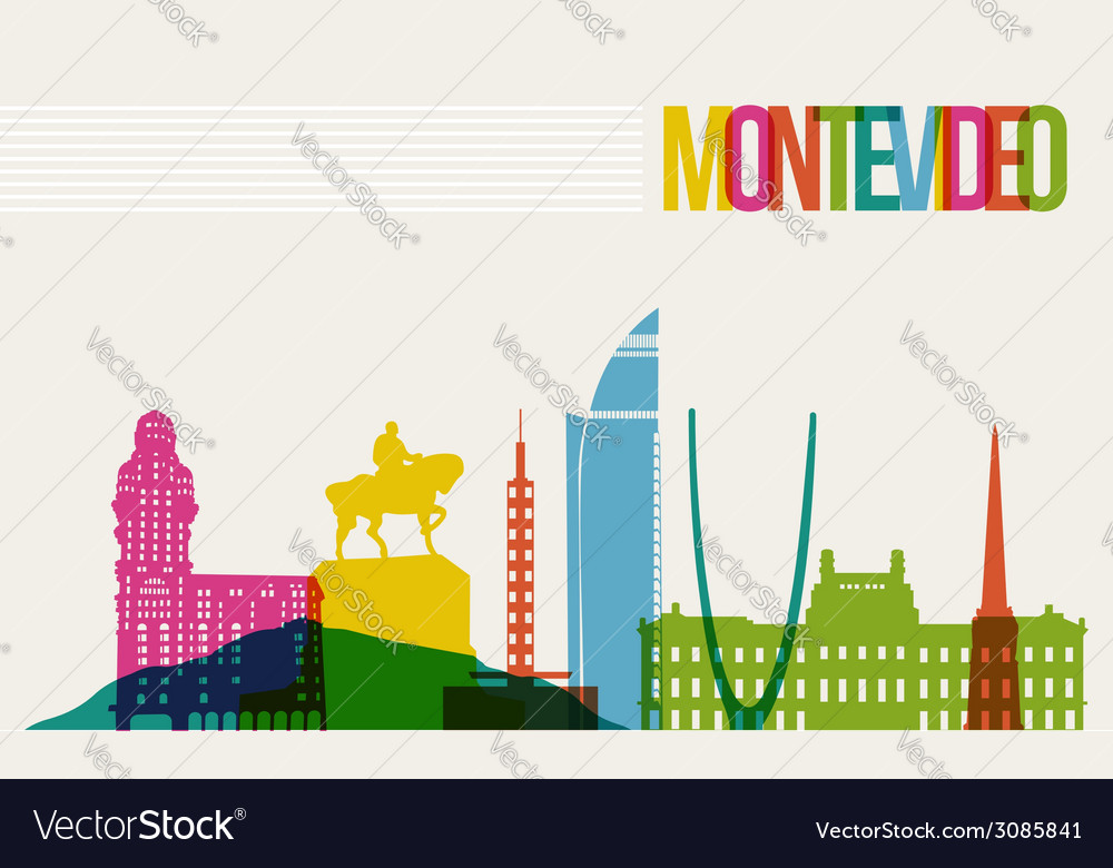 Travel Montevideo destination landmarks skyline