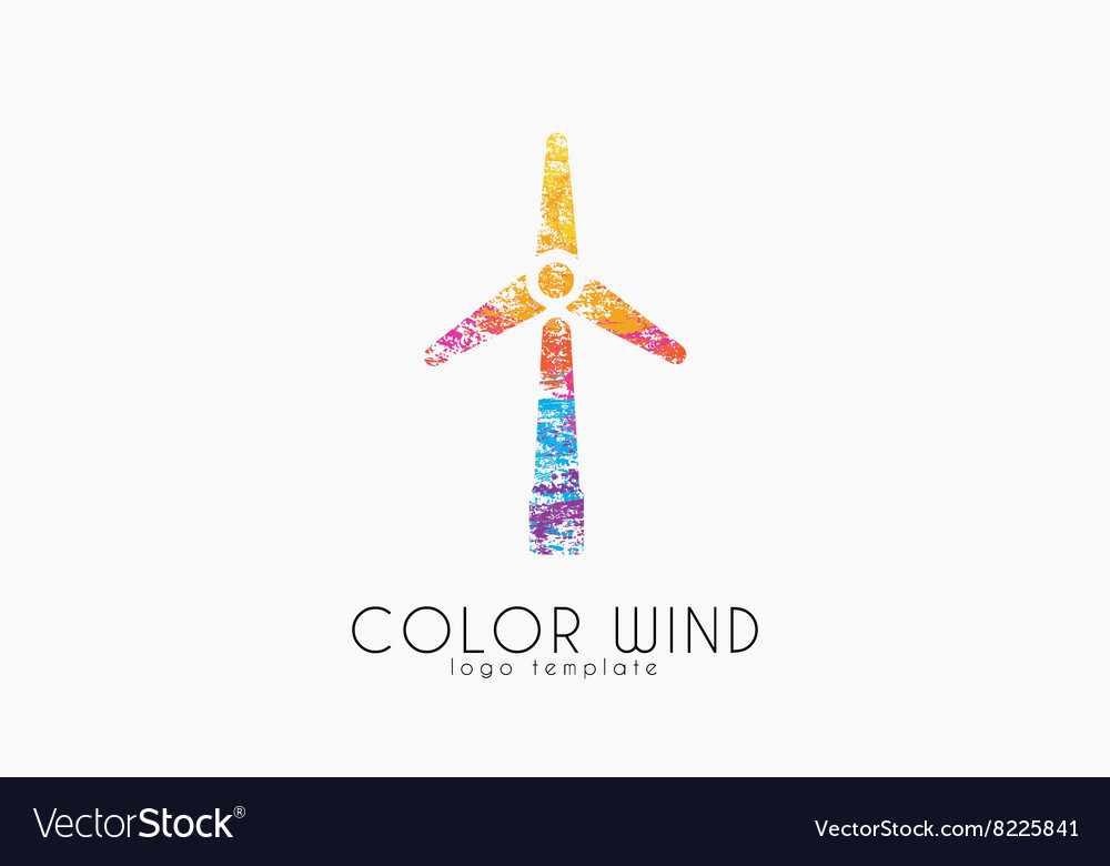 Wind logo Wind power logo design Creative logo vector image