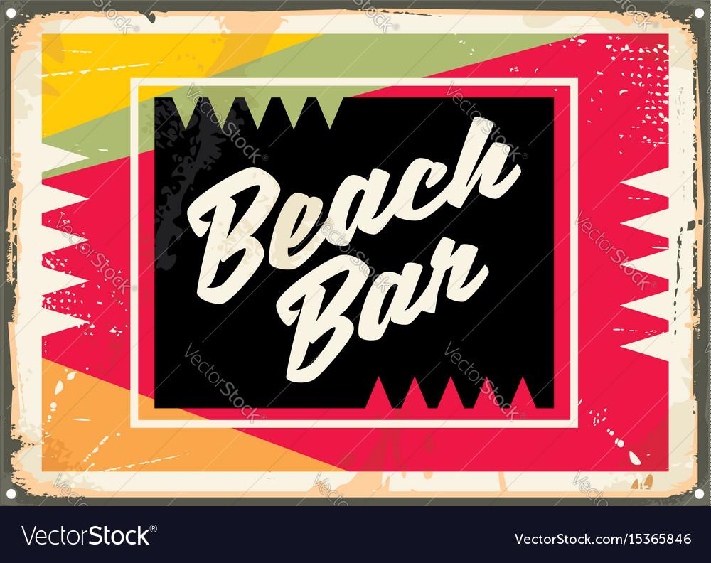 Beach bar retro sign