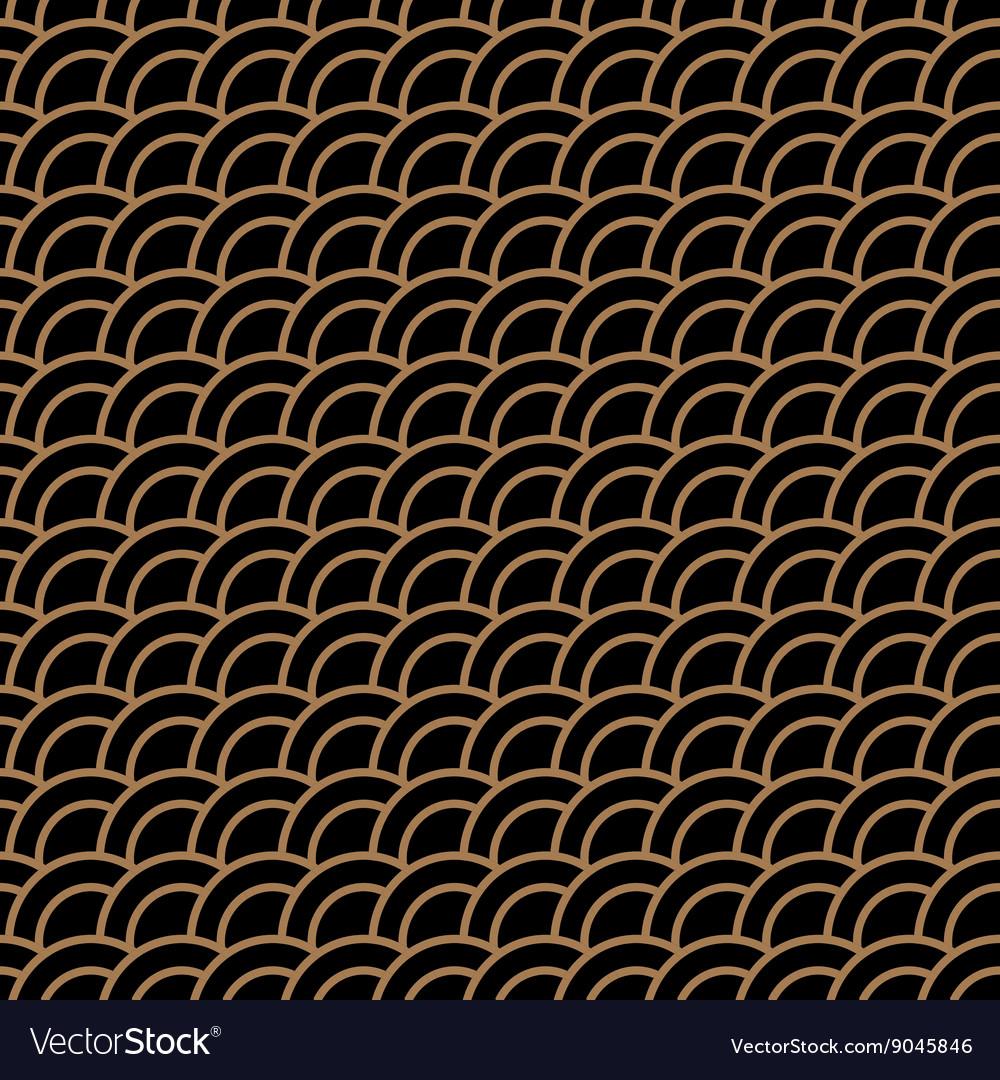 Geometric seamless pattern with stylized waves