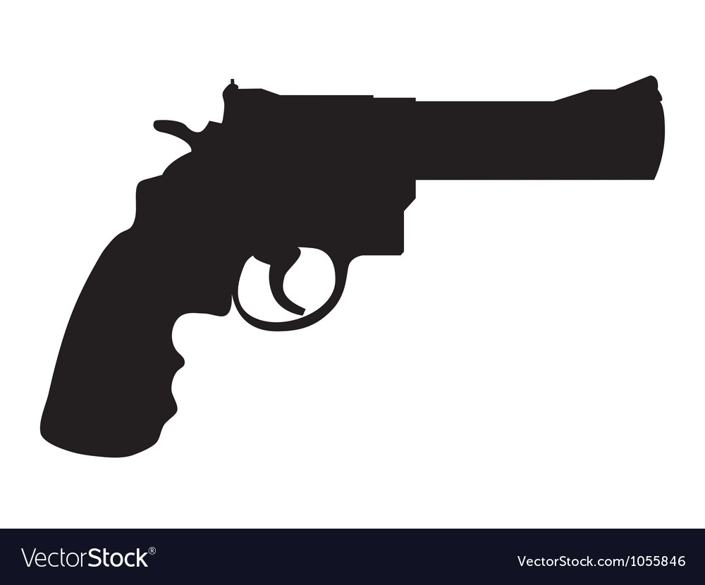 gun silhouettes royalty free vector image vectorstock rh vectorstock com gun vector art gun vector test