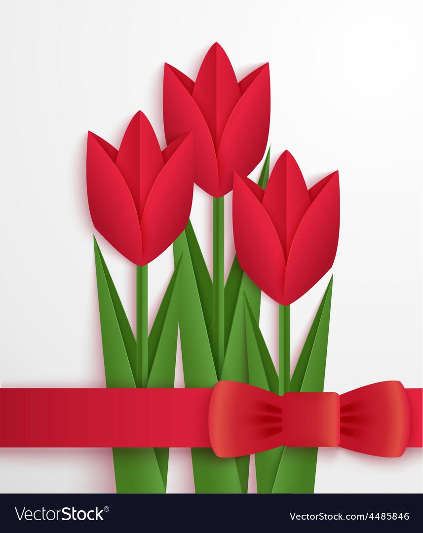 Открытки своими руками тюльпаны из бумаги, красивые девушка
