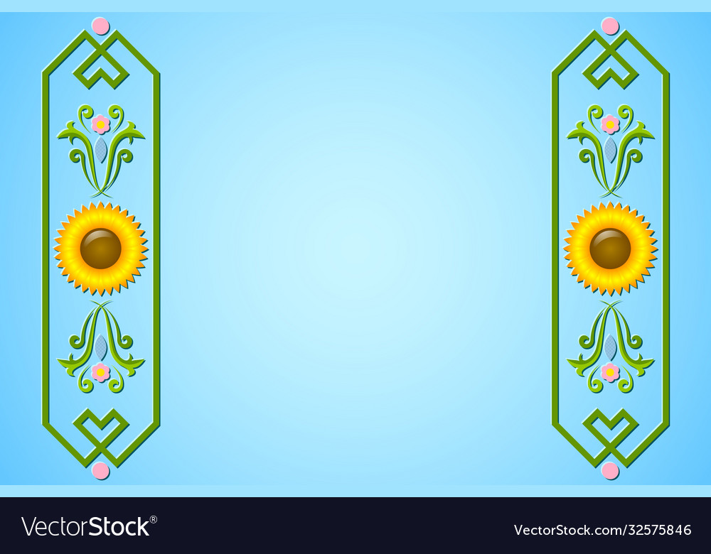 Rosemaling background with floral ornaments in