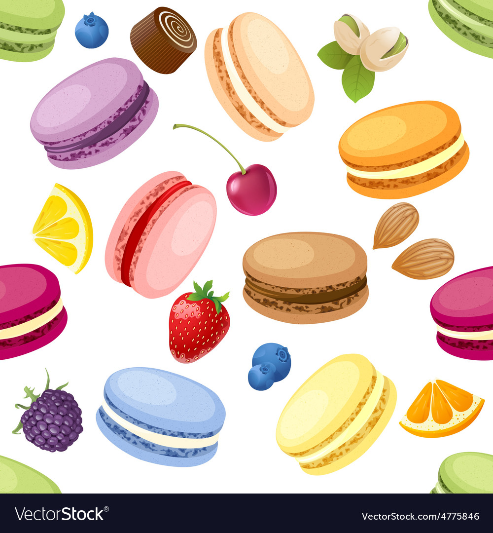 Set of macaroons vector image