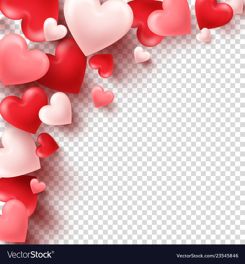 Valentines day abstract background white red