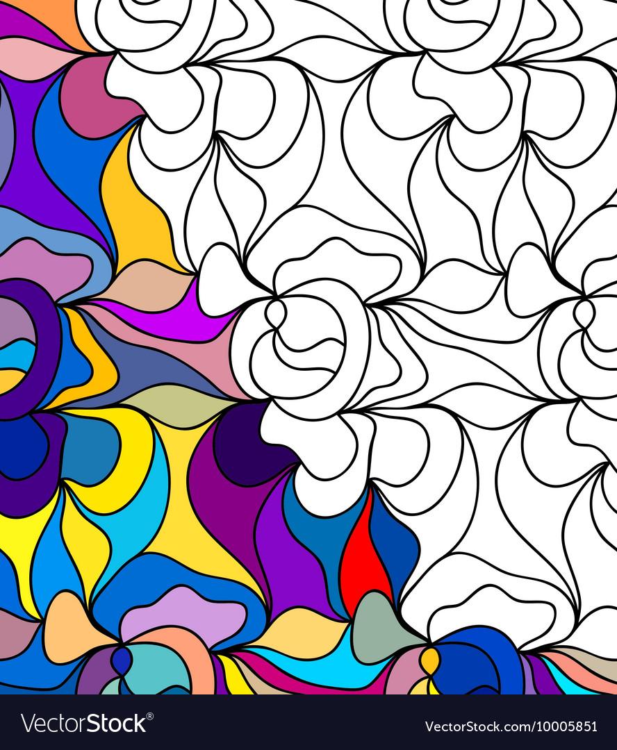 Abstract seamless fantasy pattern hand drawn