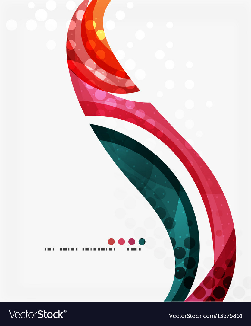 Beautiful colorful wave template vector image