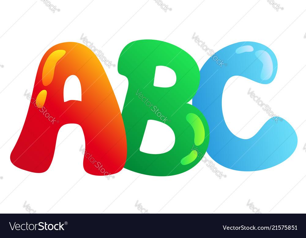 Cartoon Abc Letters Royalty Free Vector Image Vectorstock