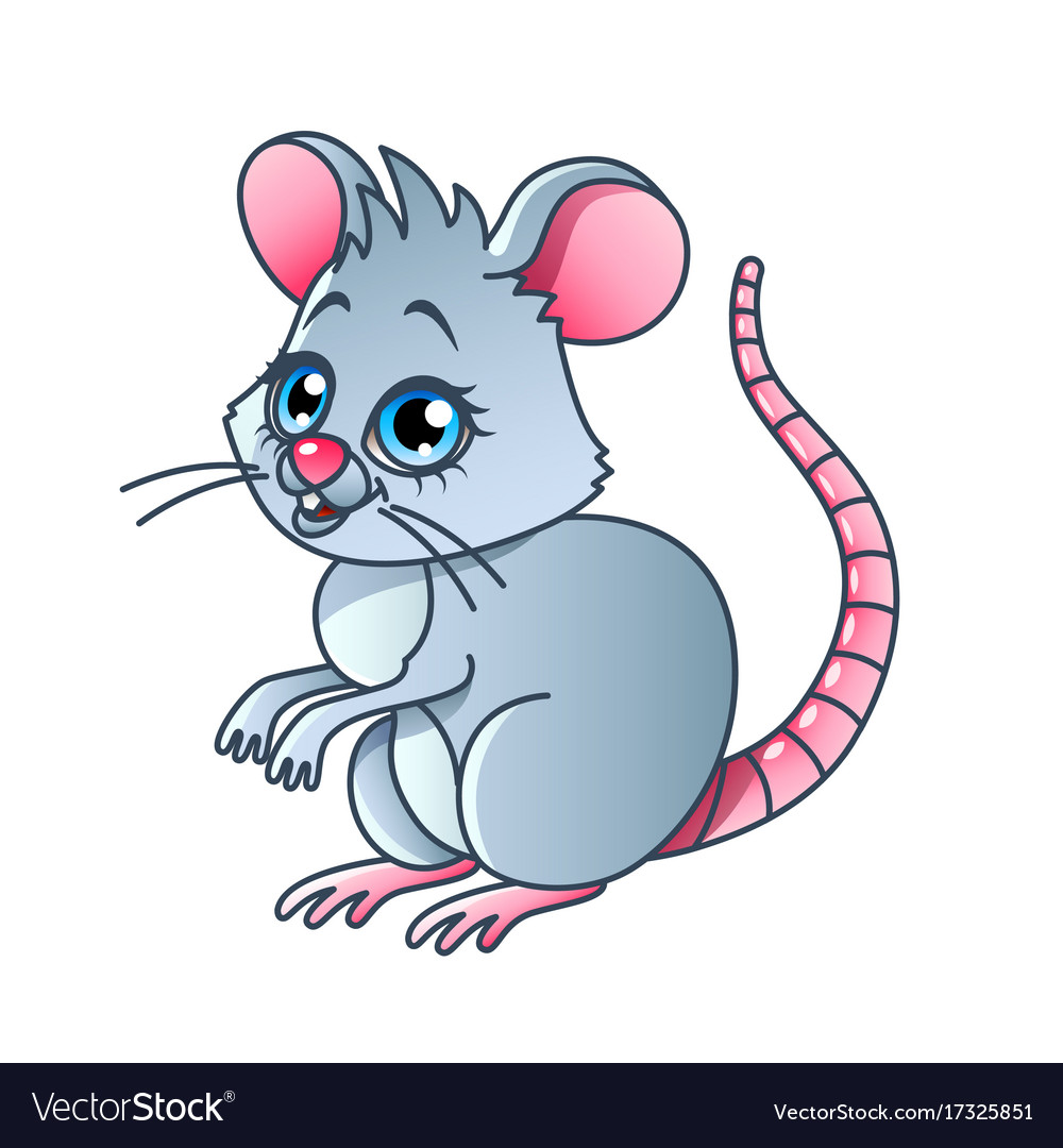 Cartoon mouse isolated