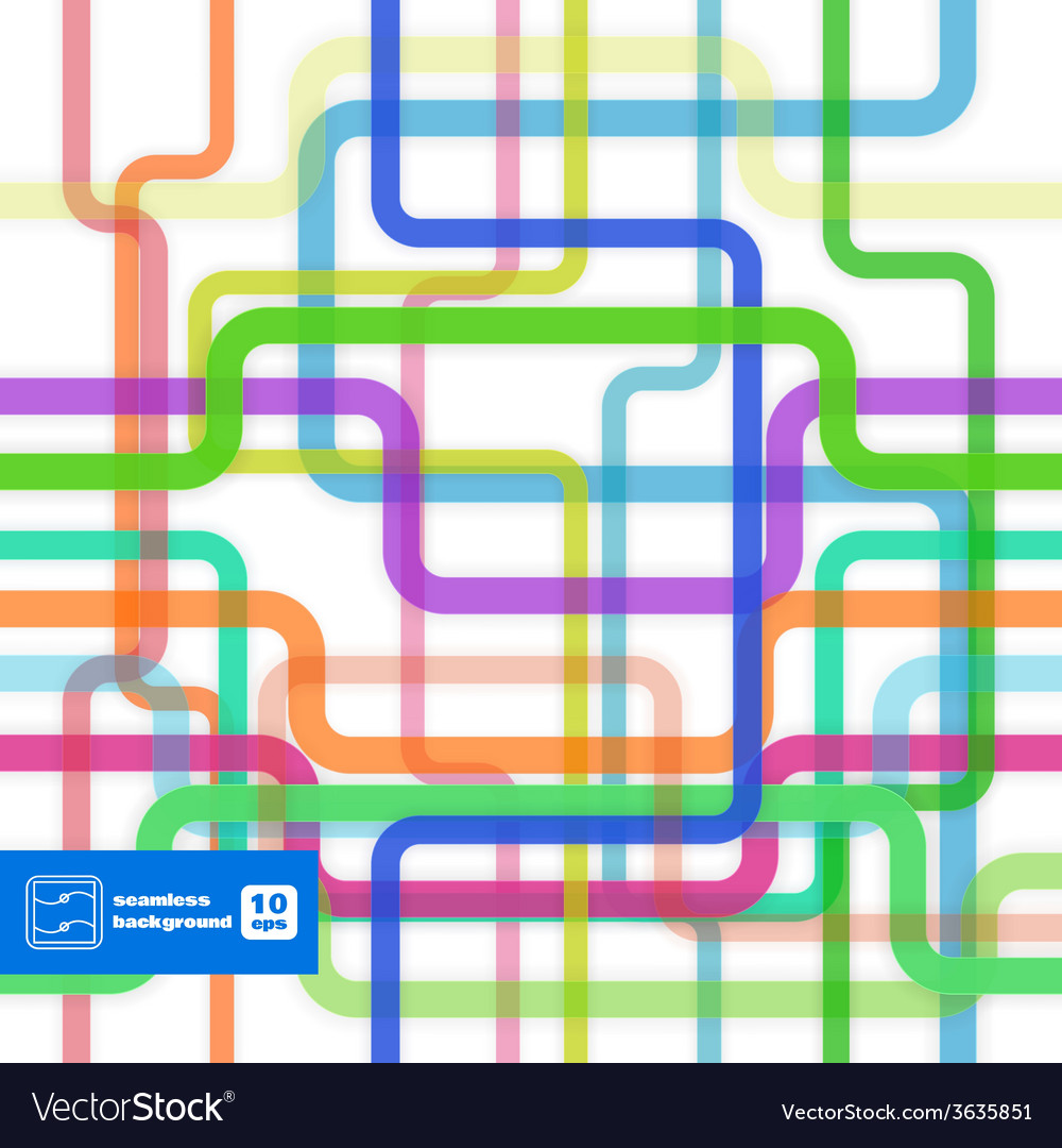 Colorful Flat Lines Seamless Pattern