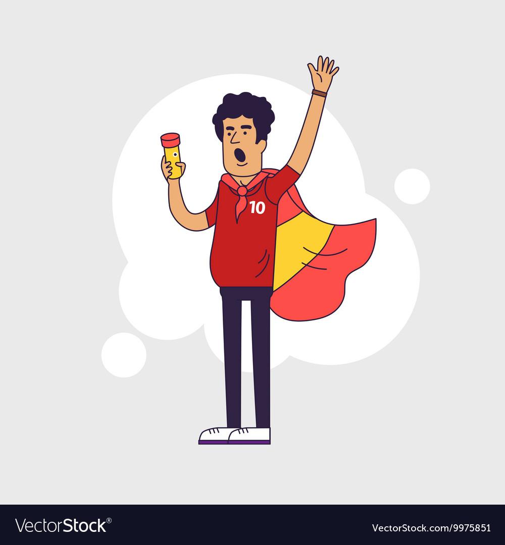 Fan of Spain national football team sports