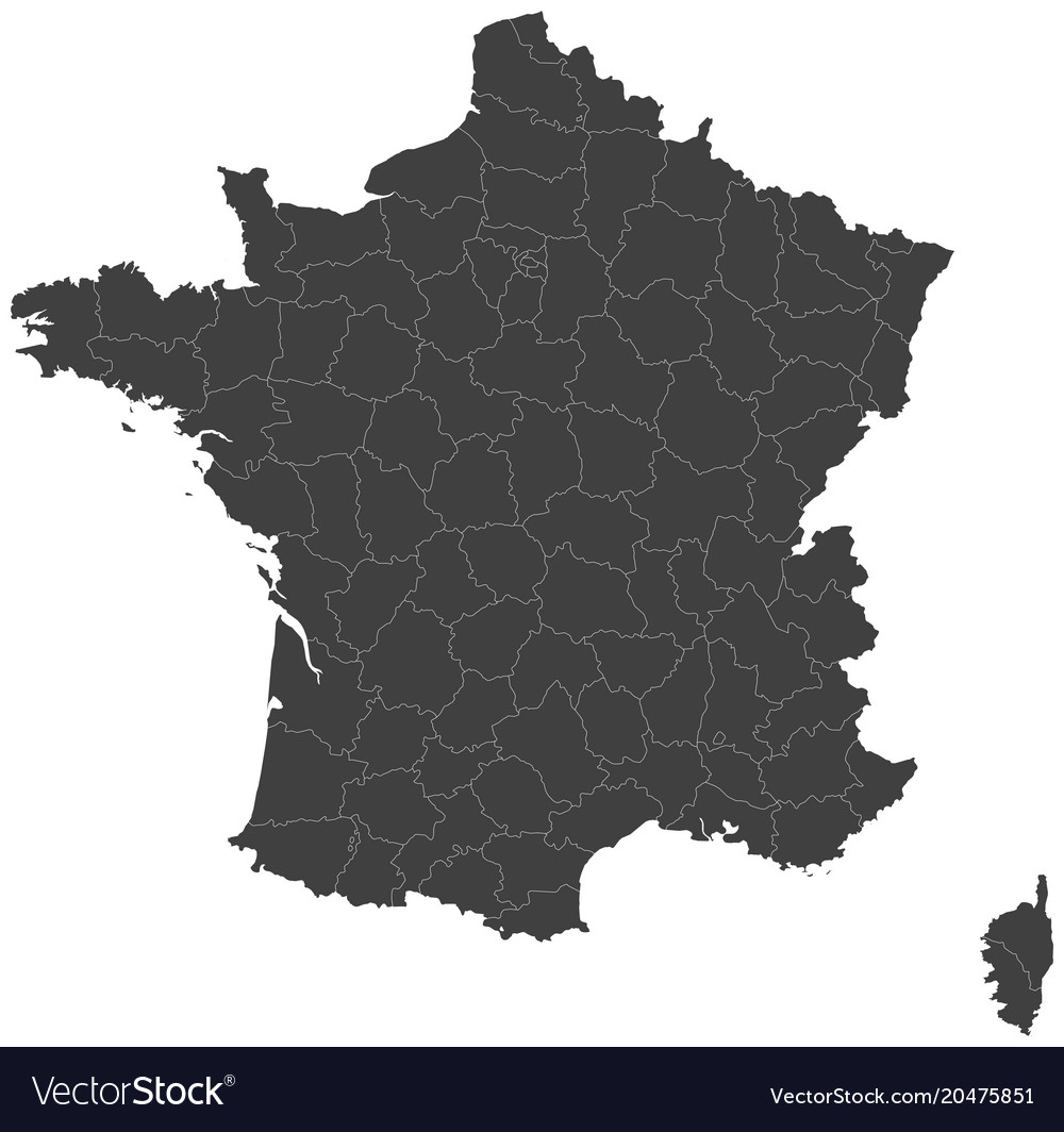 Map of france split into regions royalty free vector image map of france split into regions vector image publicscrutiny Gallery