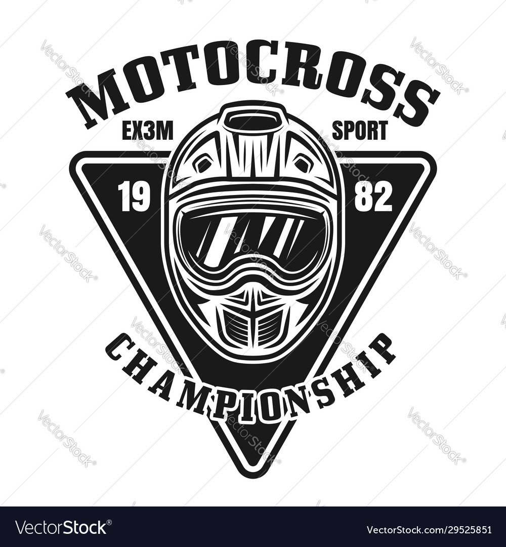 Motocross championship vintage black emblem