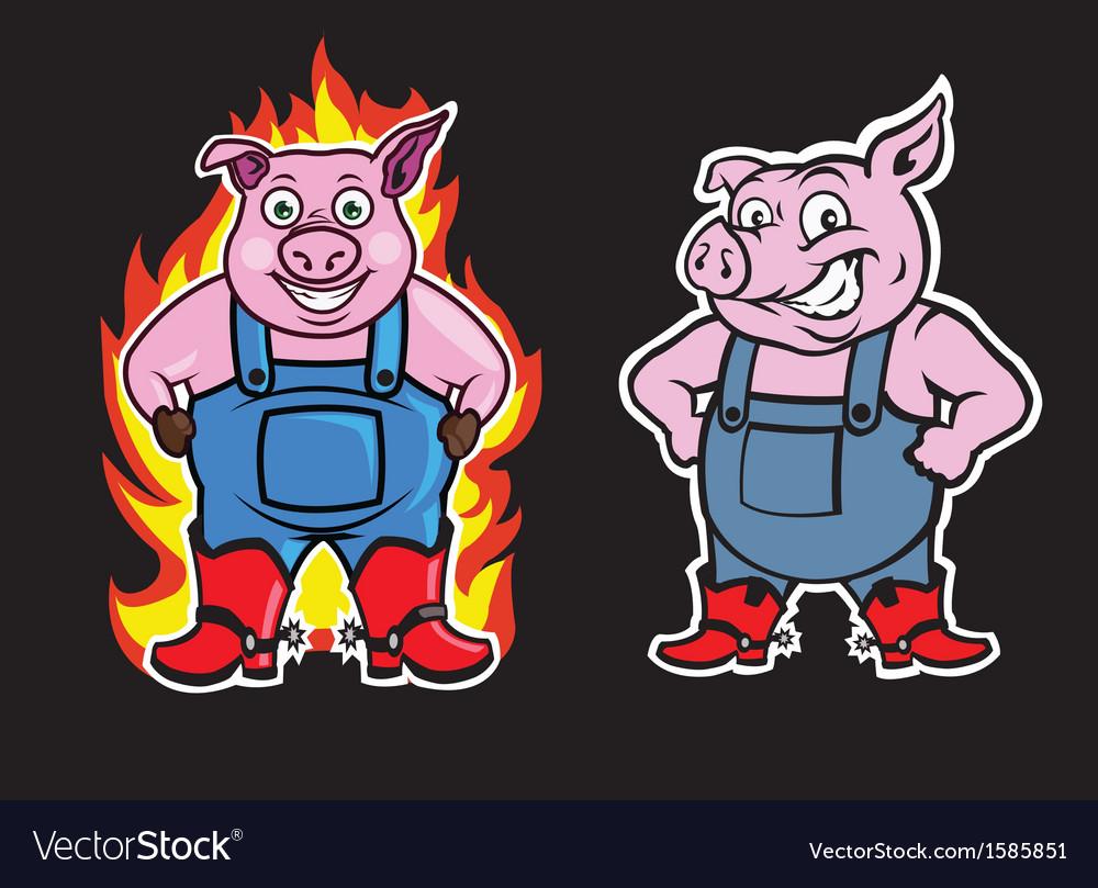 Pig Mascot vector image