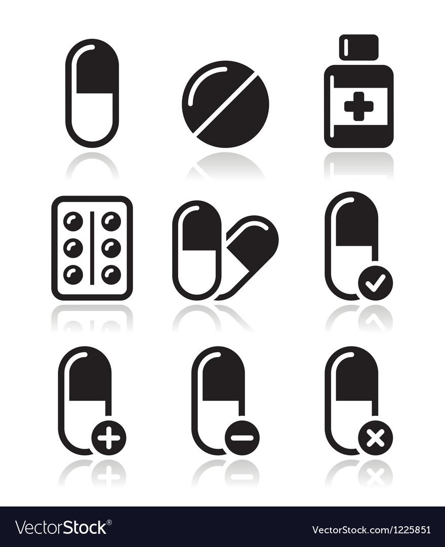 pills medication icons set royalty free vector image rh vectorstock com vectra pills vectra pills