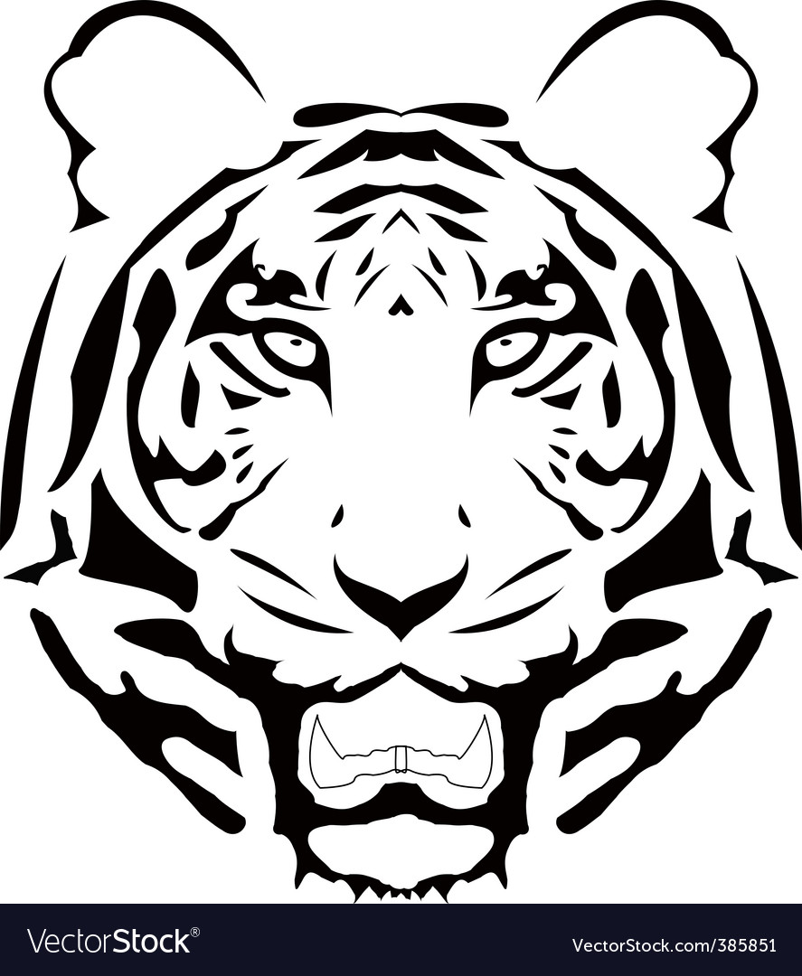 Vector abstract tiger head