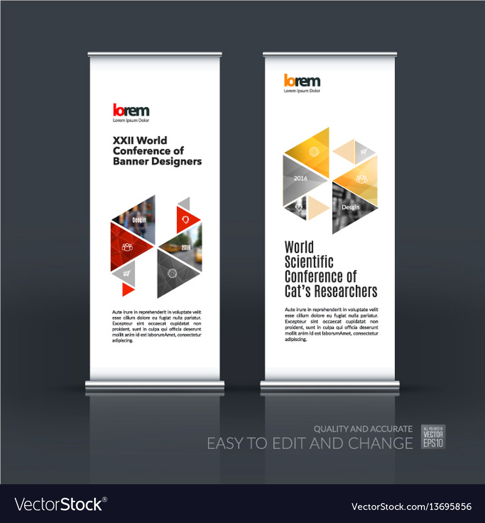 Abstract business set of modern roll up
