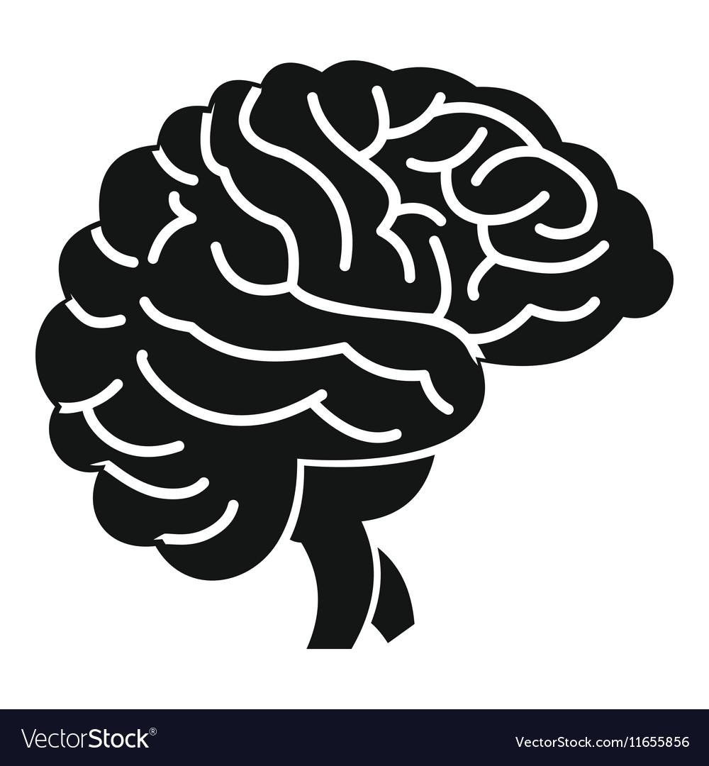 Brain vector. Icon simple style
