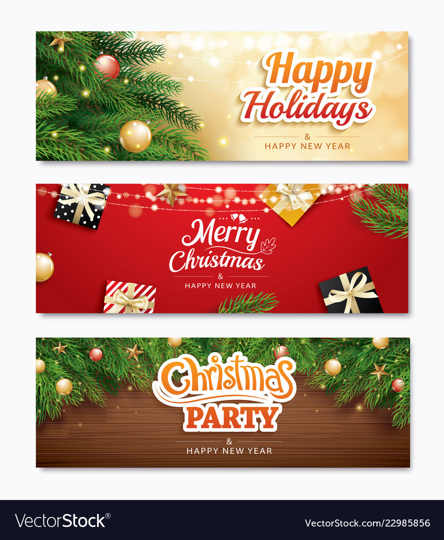 Christmas party and greeting card with holiday