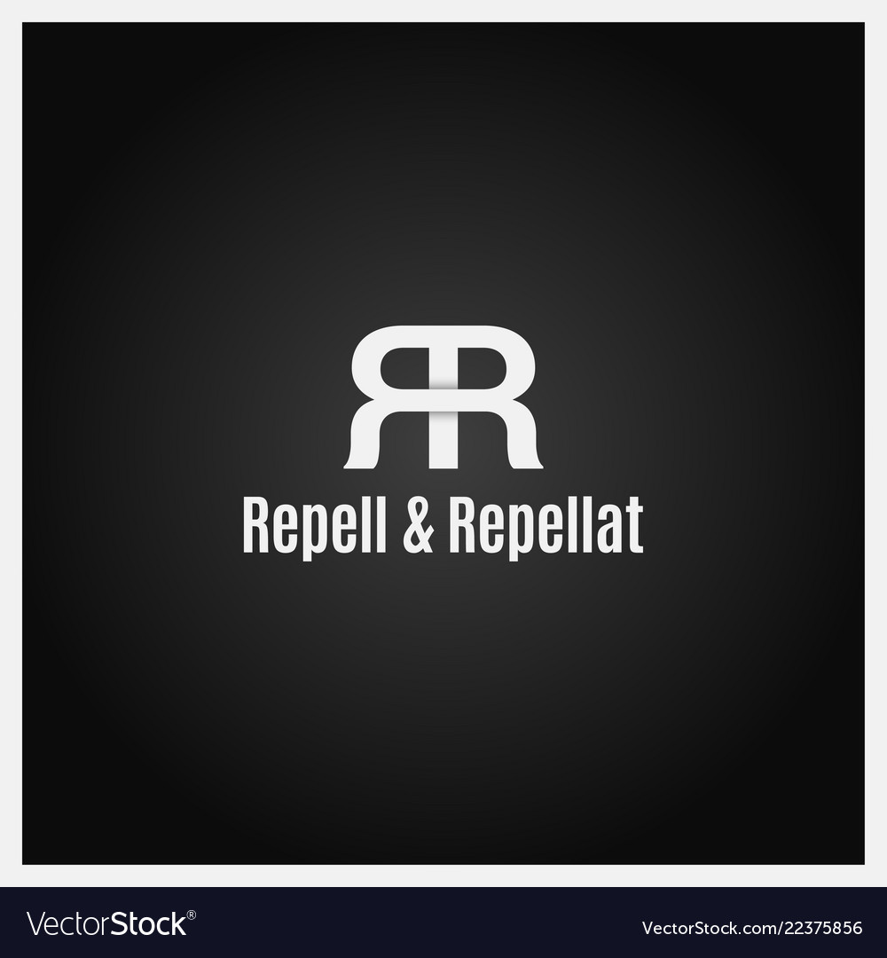 Double letter r logo icon with two white r on
