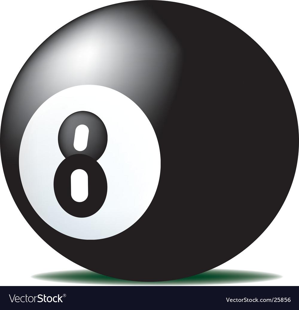 Eight ball vector image