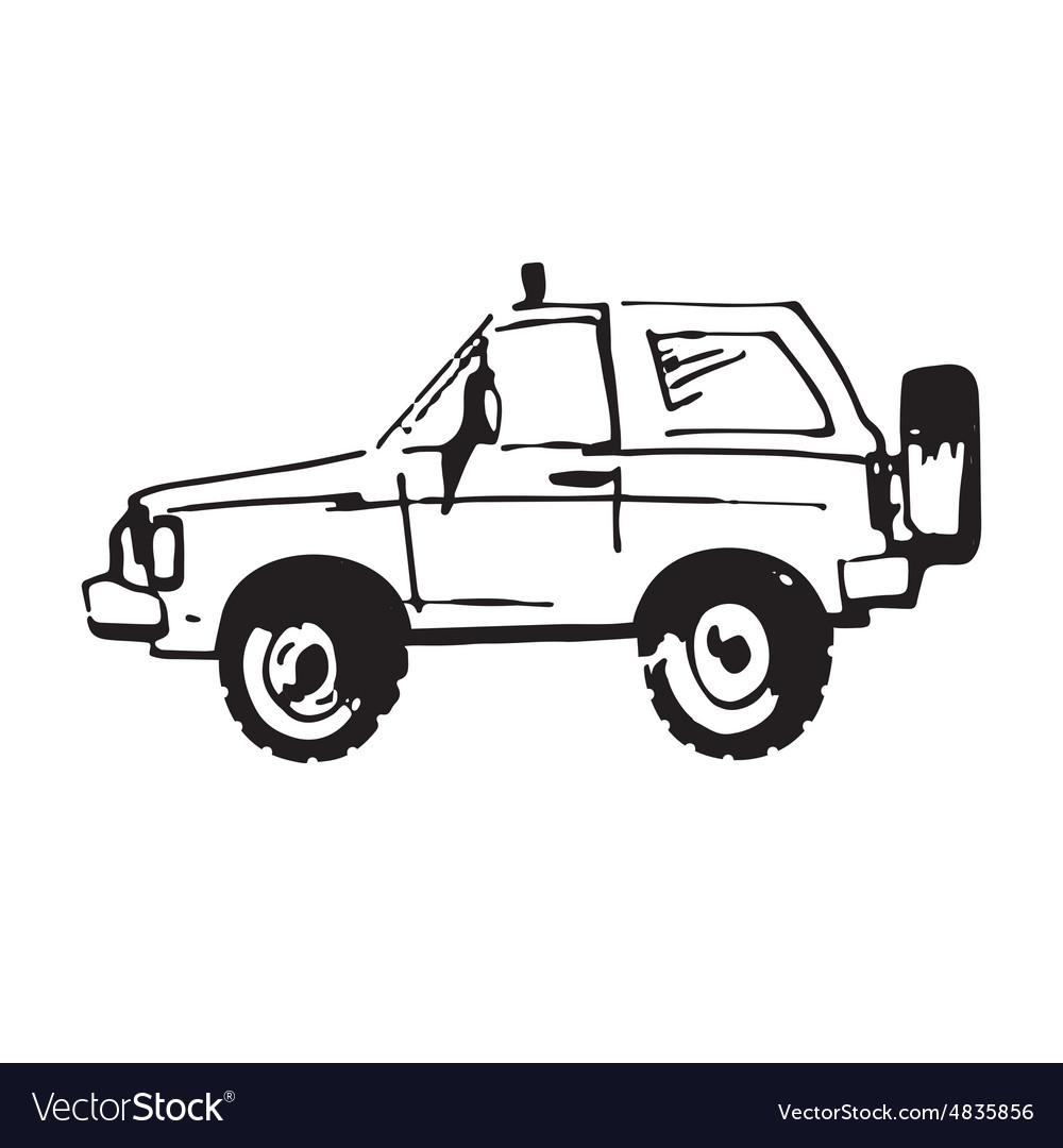 Hand drawn car