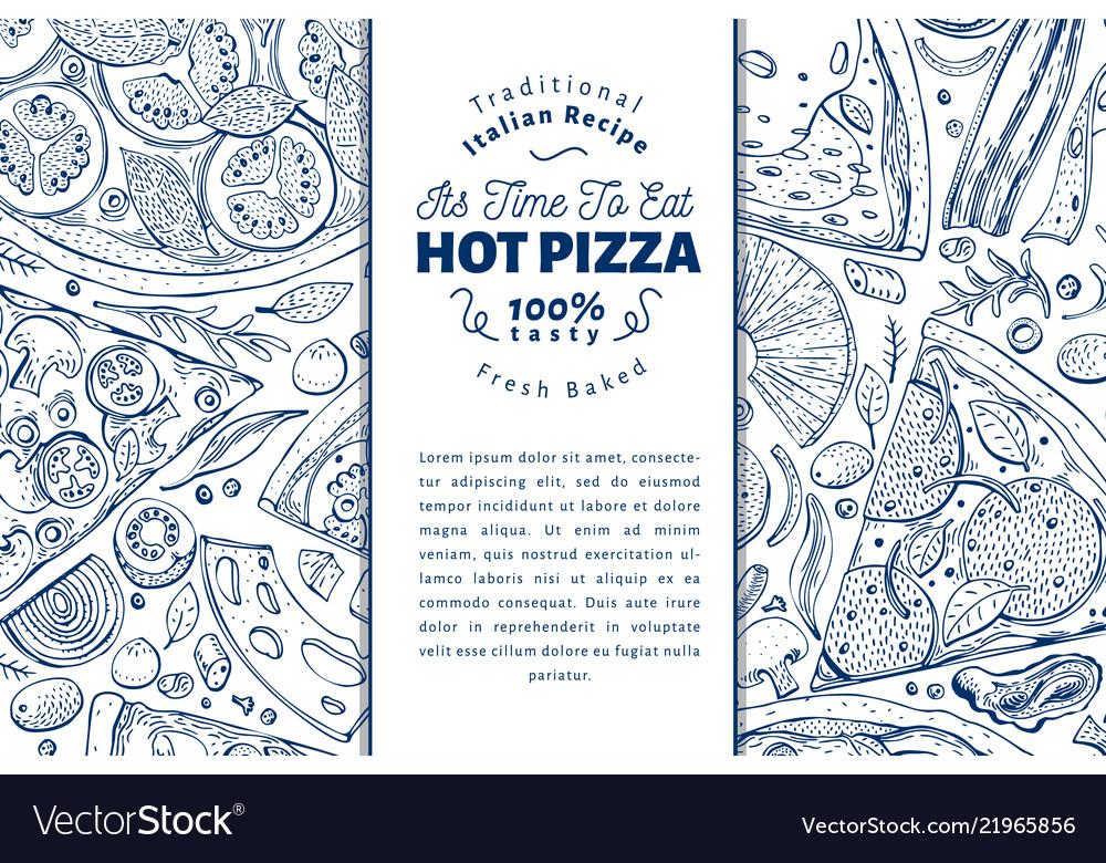Italian pizza and ingredients frame italian food