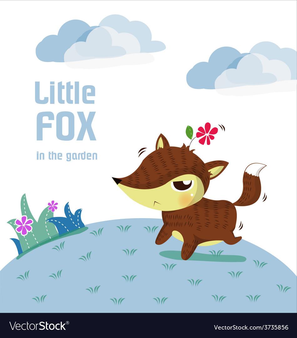 Little fox lovely vector image