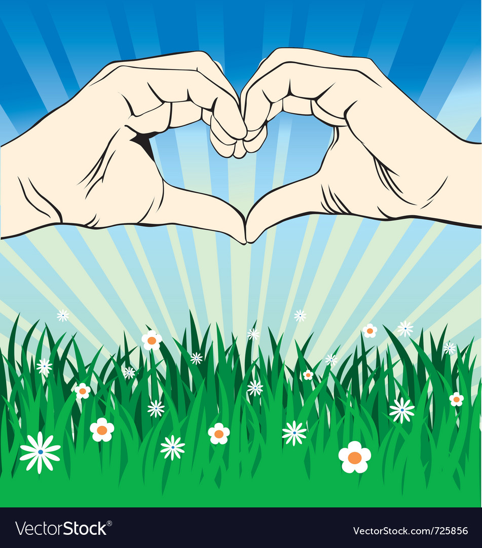 Love sign 2 vector image