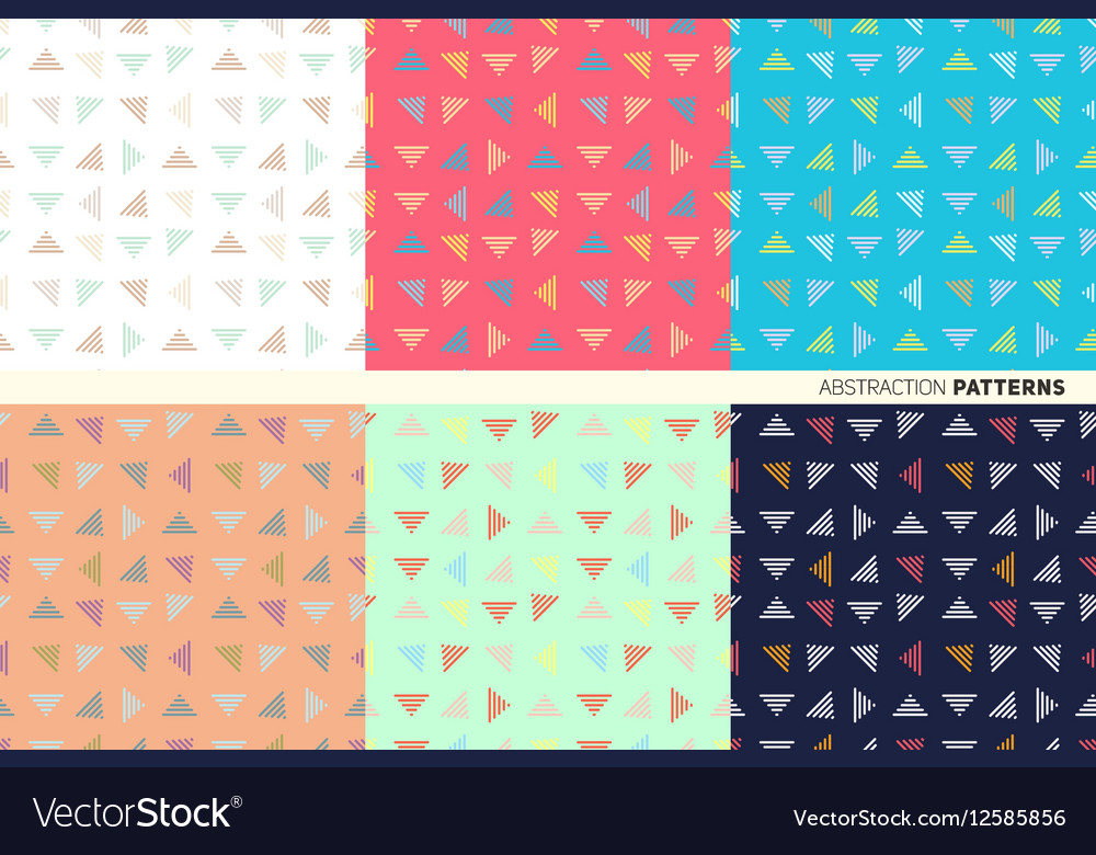 Pattern of triangles vector image