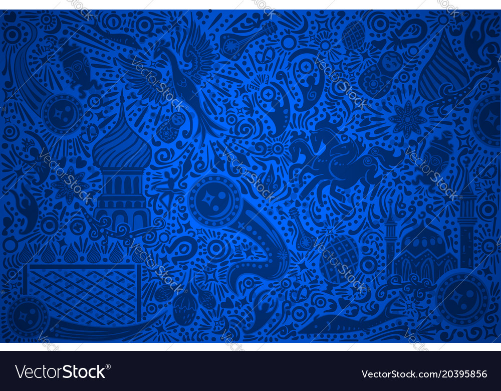Russia world cup blue pattern