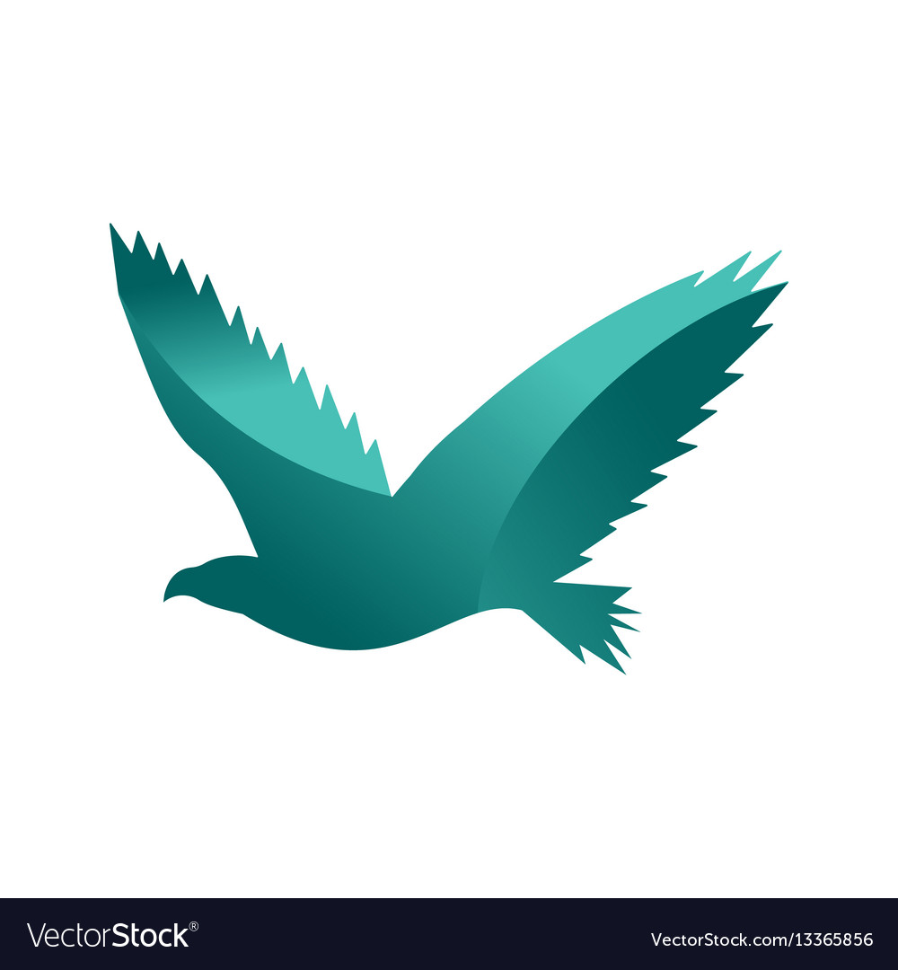 Wild eagle animal jungle pet logo silhouette of