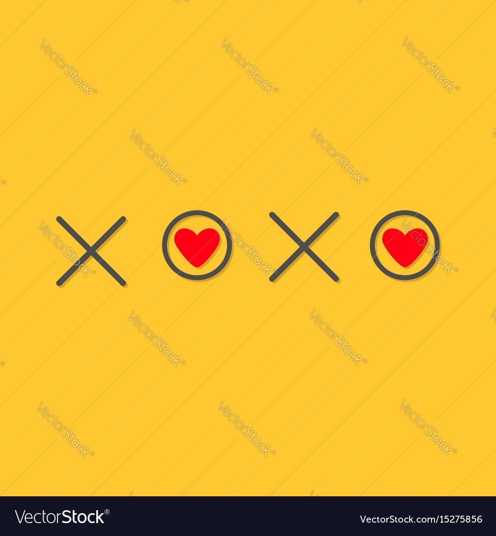 Xoxo hugs and kisses sign symbol mark love card