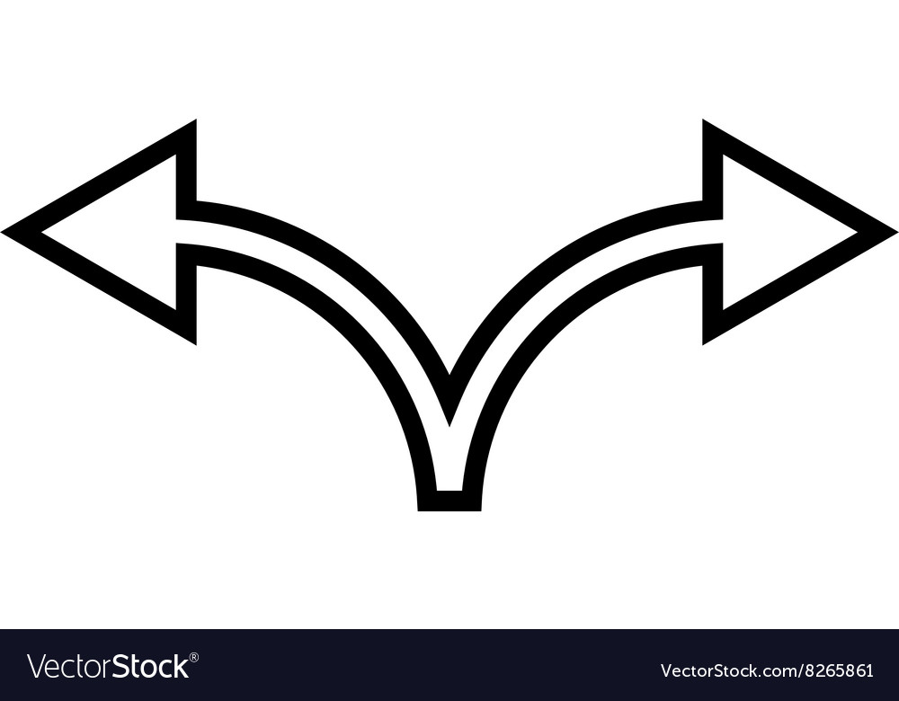 Divide Arrow Left Right Outline Icon