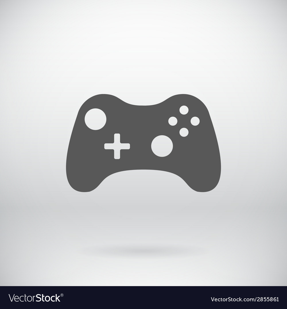 Flat Gamepad Joystick Joypad Icon Symbol
