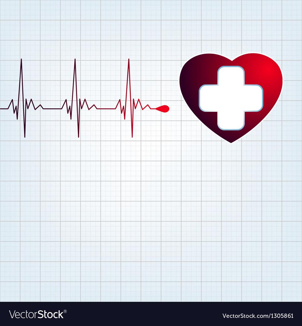 Heart medical cross EPS 8