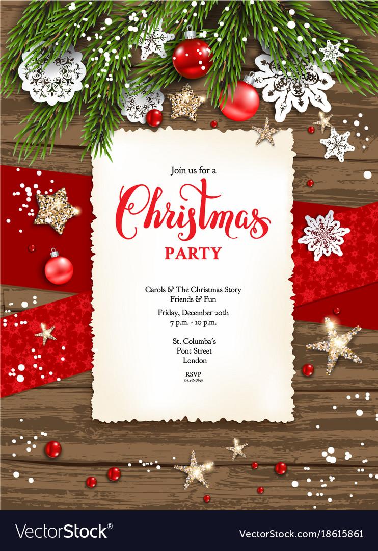 holiday winter card frame invitation royalty free vector