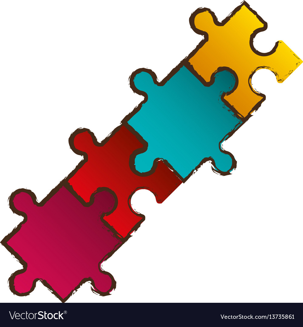 puzzle pieces connection image royalty free vector image
