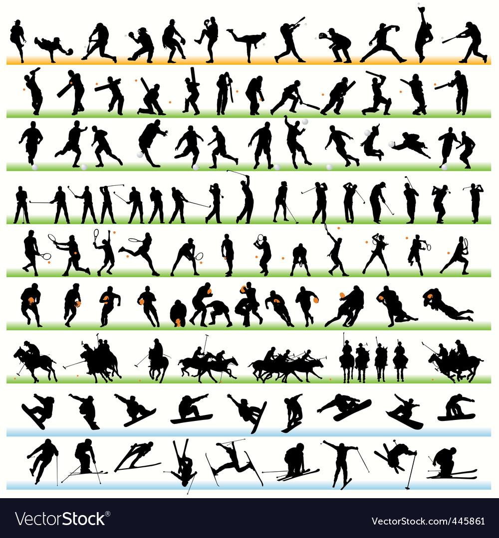 Sports set01 vector image