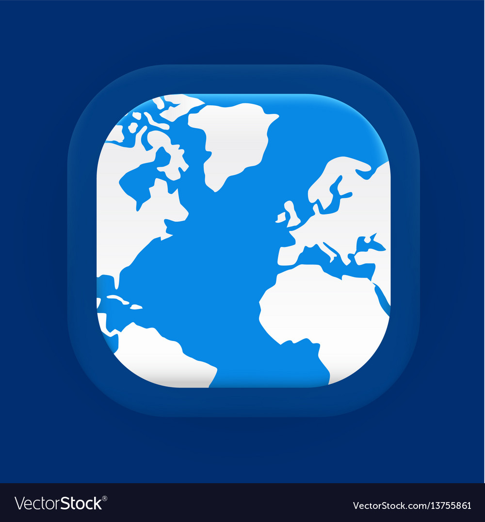Square blue world map icon royalty free vector image square blue world map icon vector image gumiabroncs Gallery