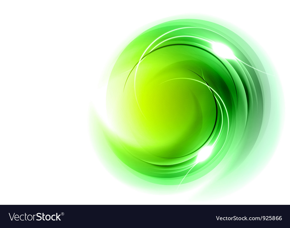 Abstract circle smoke on white green