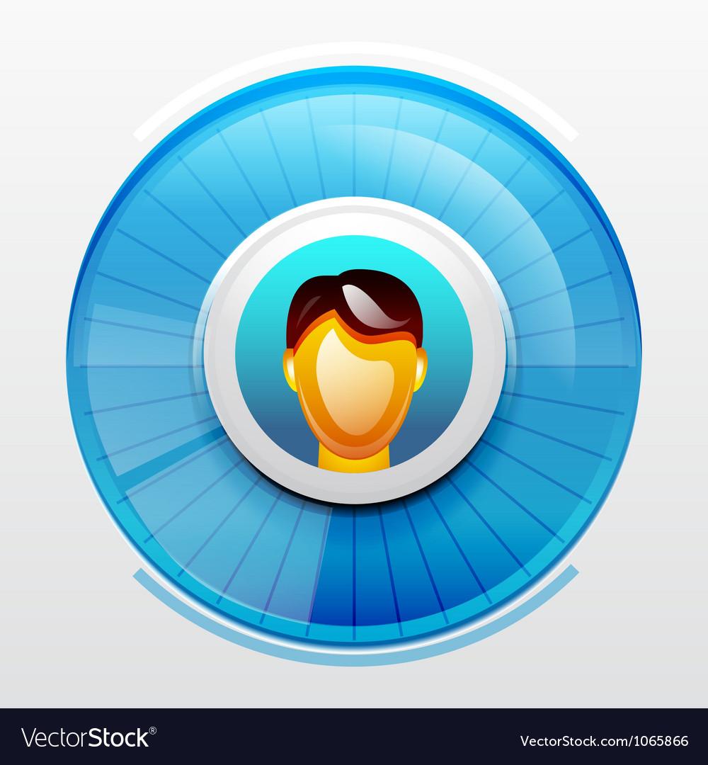 Blue user pic icon