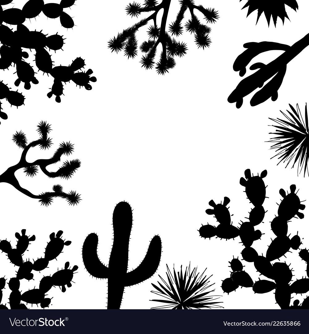 Exotic wildflower cactus frame saguaro prickly