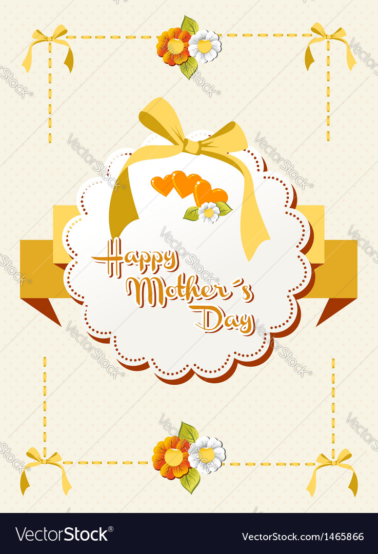 Happy Mothers Day ribbon background